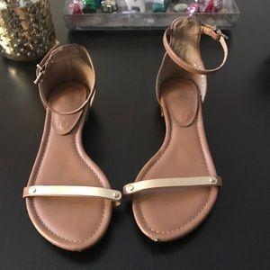 Jessica Simpson gold sandals